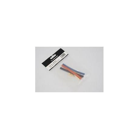 Connettore spina 3.5mm M/F dorati (3cp) + termore stringente