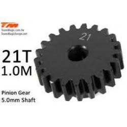 K-Factory pignone 21T M1 Foro 5mm in acciaio per elettrico.
