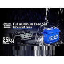 Servo Digitale POWER HD in alluminio waterproof 25Kg 0.16 sec LW-25MG