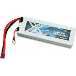 Batteria Lipo 7,4 AM RACING 6500 mAh 55c