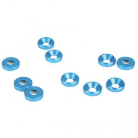 Rondelle Svasate Bleu 3mm
